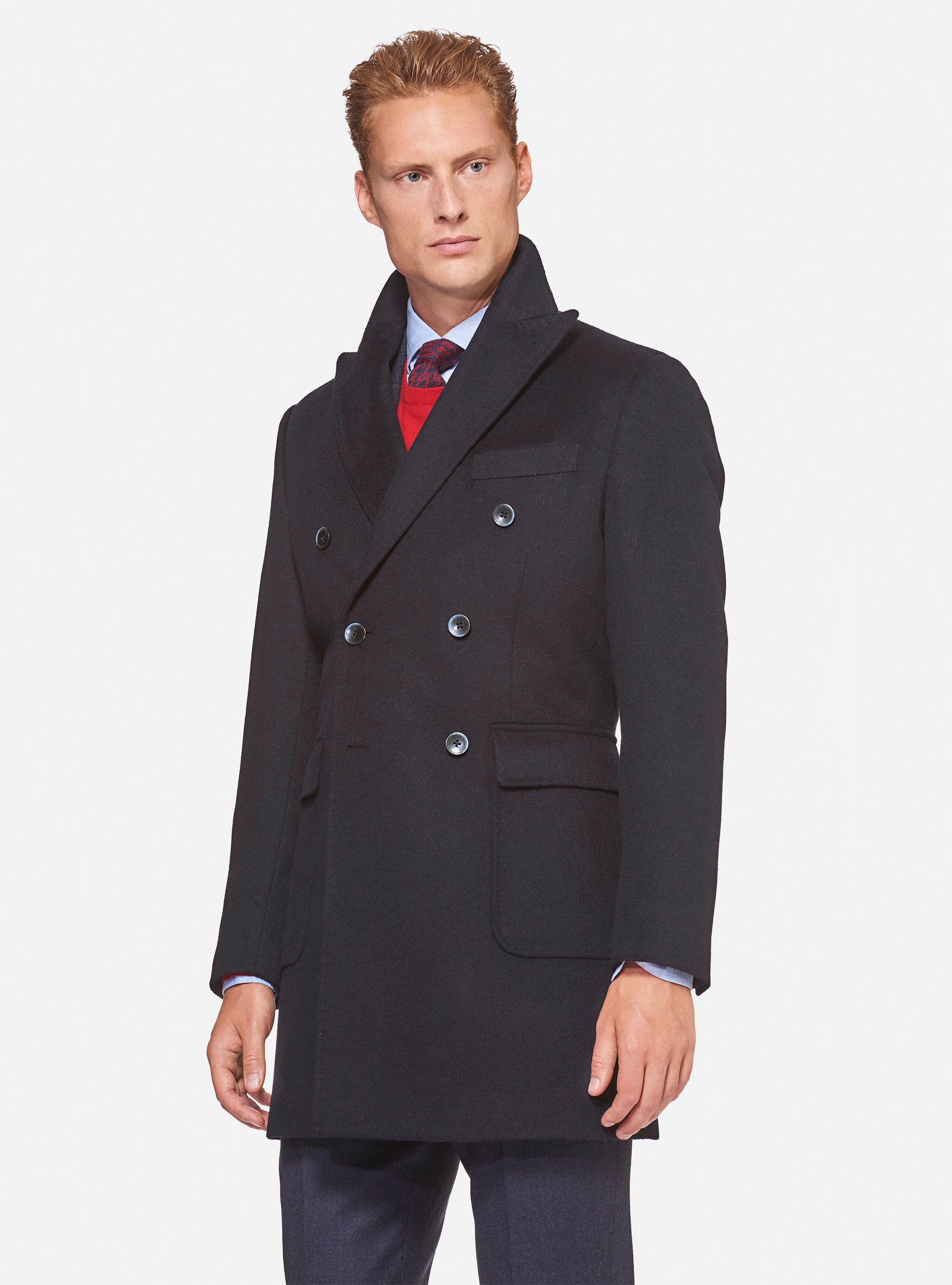 gutteridge cappotti nero uomo