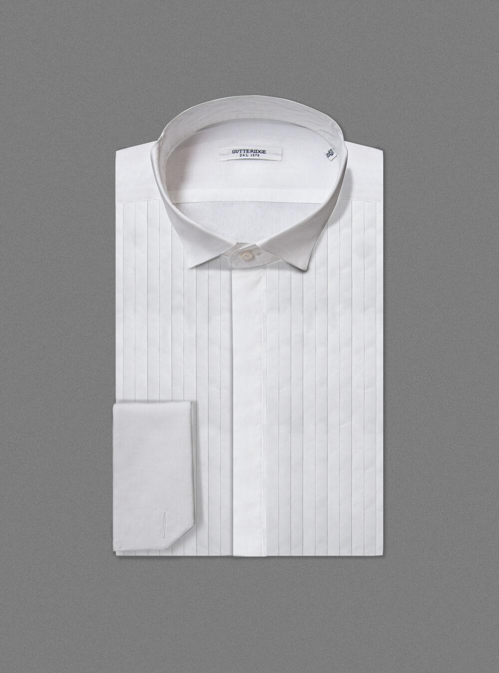 nuovo concetto 7f8f1 691ae Camicia smoking collo diplomatico con polso gemelli   Gutteridge ...